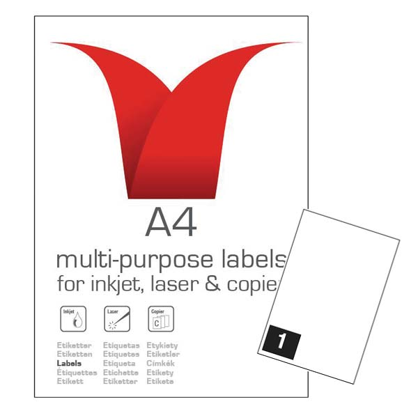 A4 SA LABELS 199.6X 289.1 1TV