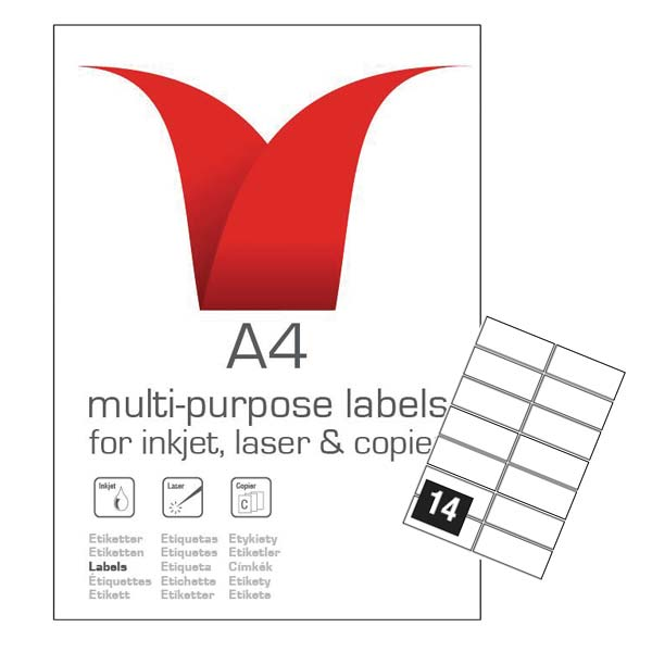 A4 SA LABELS 99.1 X 38.1 14TV