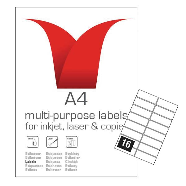 A4 SA LABELS 99.1 X 34 16TV
