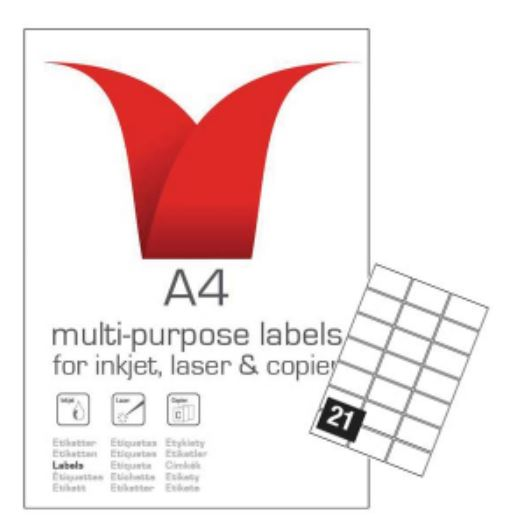 A4 SA LABELS 63..5 X 38.1 21TV