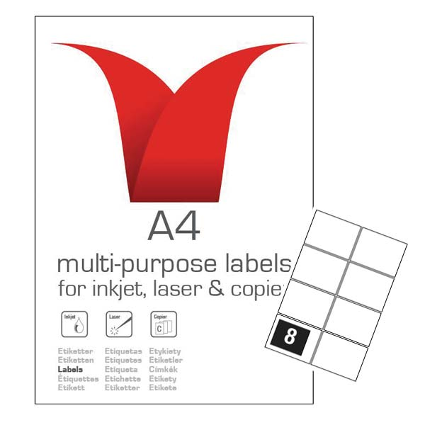 A4 SA LABELS 99.1 X 67.7 8TV