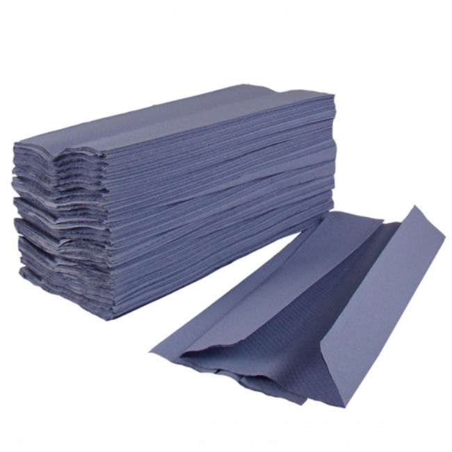 C FOLD HAND TOWELS 1PLY BLUE 2880s