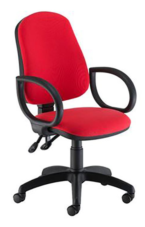 HB OPERATOR CHAIR FIXED ARMS RED
