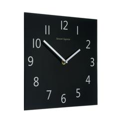 Wall Clock Square Black Face Ref 2100H-BK