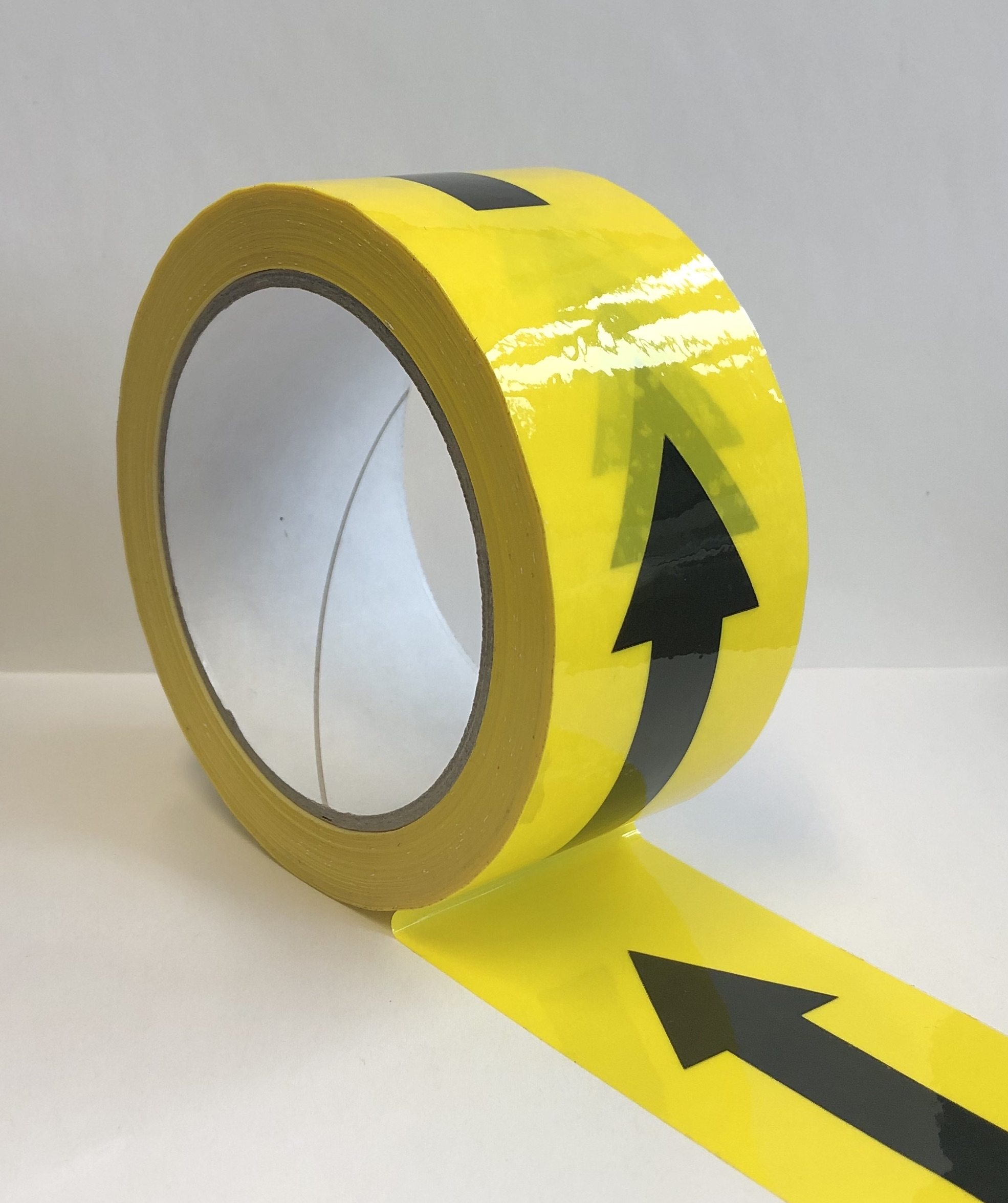 Black & Yellow Directional Arrow Tape