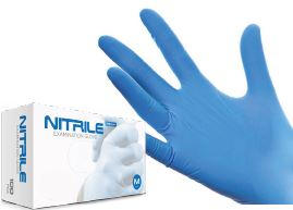 AQL 1.5 LARGE NITRILE GLOVES PK 100