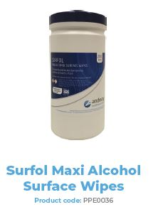 SURFOL MAXI ALCOHOL SURFACE WIPES 200