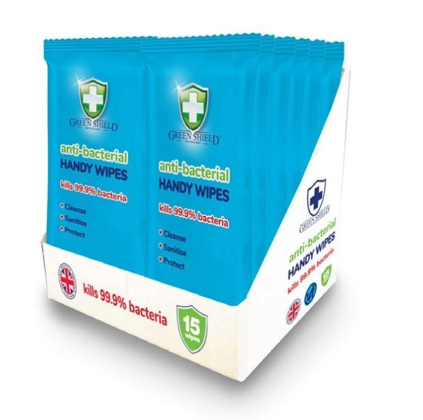 HANDY WIPES PKT.20 ANTI BACTERIAL