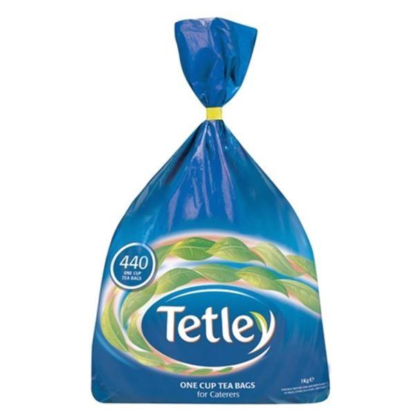 AU03840 Tetley Tea 440's +FOC biscuits