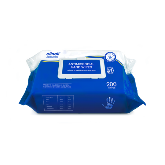CLINELL HAND & SURFACE WIPE PK200