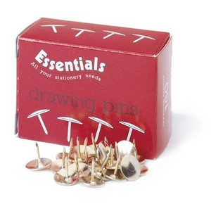 Brass Plated Drawing Pins - 9.5mm - 9.5mm