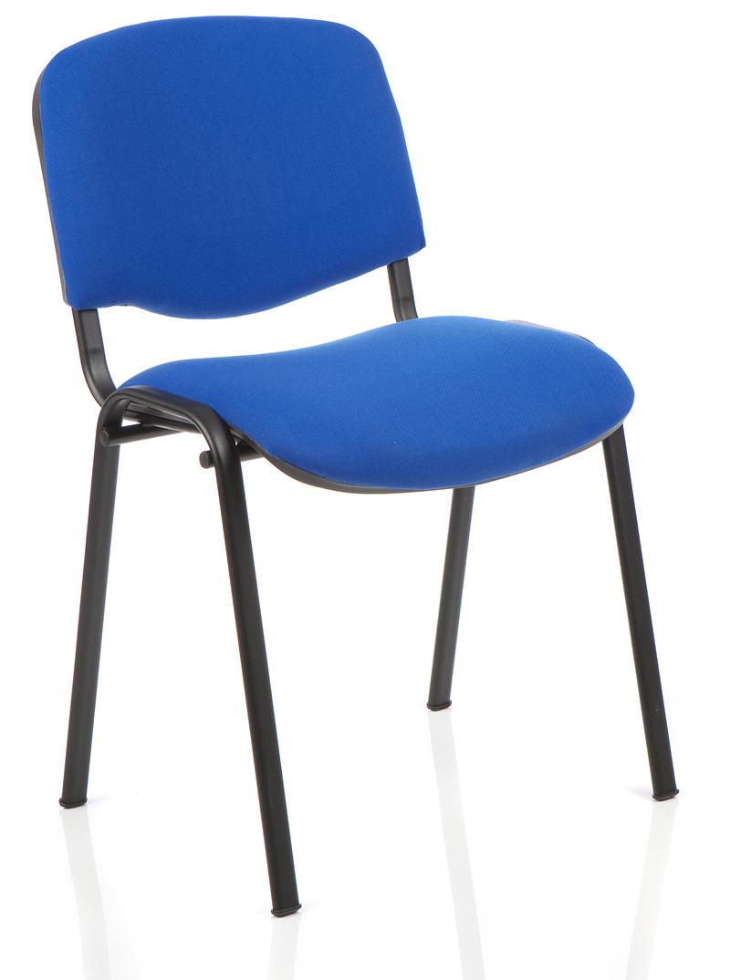 Meeting chair metal frame Blue
