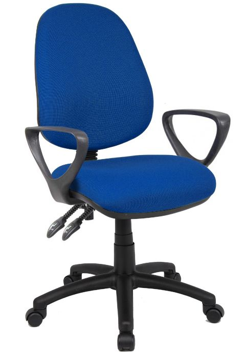 Twin lever operator chair with arms