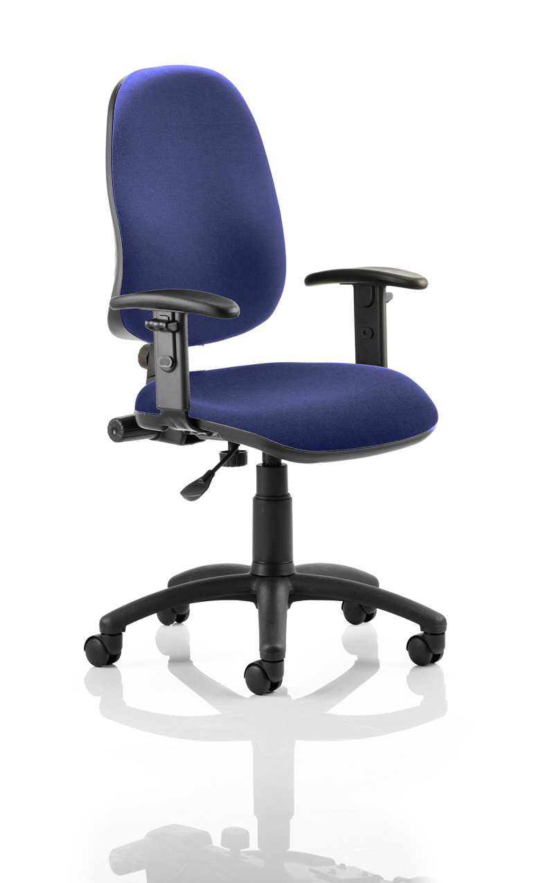 Triple lever operator chair with arms