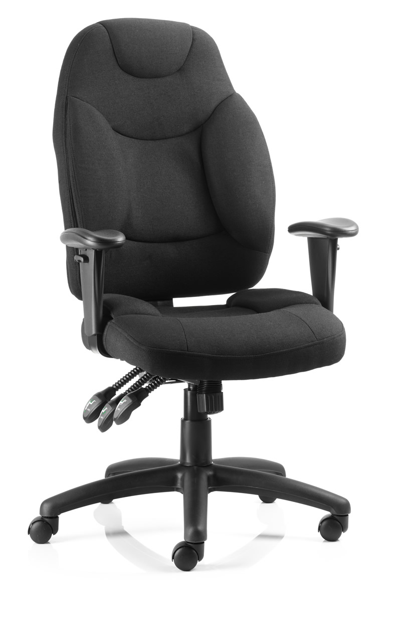 Triple lever executive operator chair