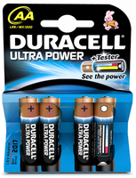 Duracell Ultra Battery Pk 4 AA 75051955