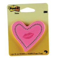 Post-it Notes Heart with Lips Neon Pink 6370-HTL