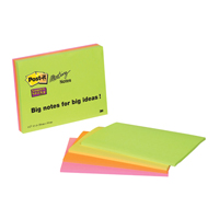Post-it Meeting Notes Super Sticky Neon Assorted 200 x 149mm 6845-SSP