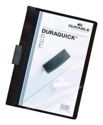 Durable Duraquick Clip Folder PVC Clear Front A4 Black Ref 2270/01 [Pack 20]