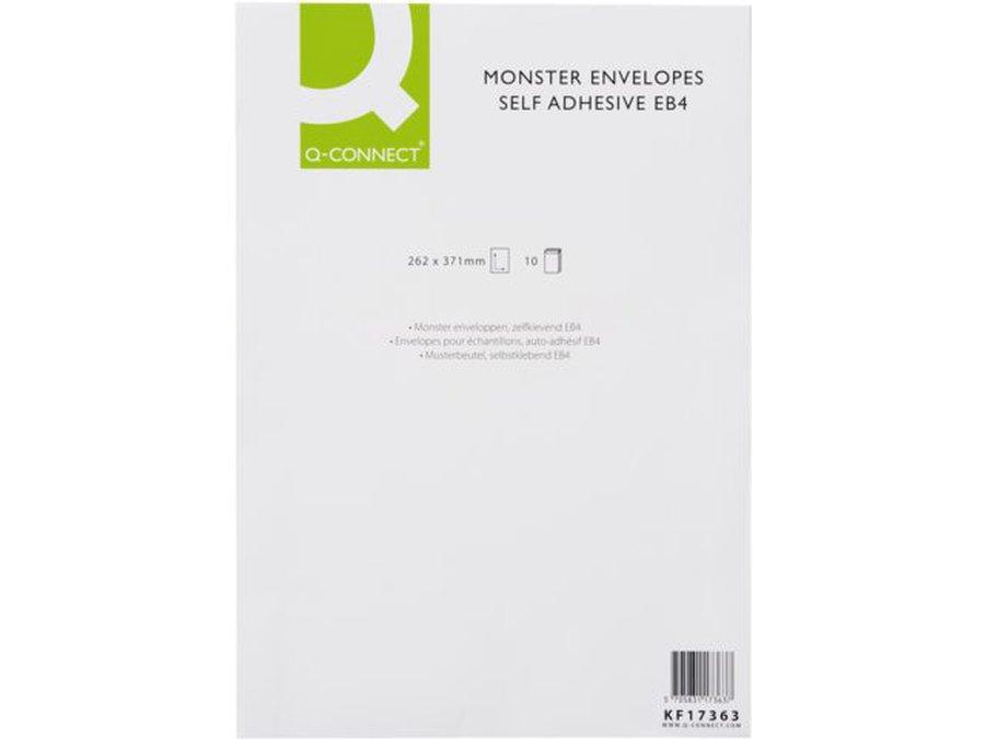 Q-Conenct 262x371mm Envelope 130gsm Self Seal PK10