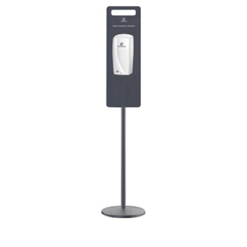 Sanitizer Pole Stand with Touchless Gel and Soap dispenser