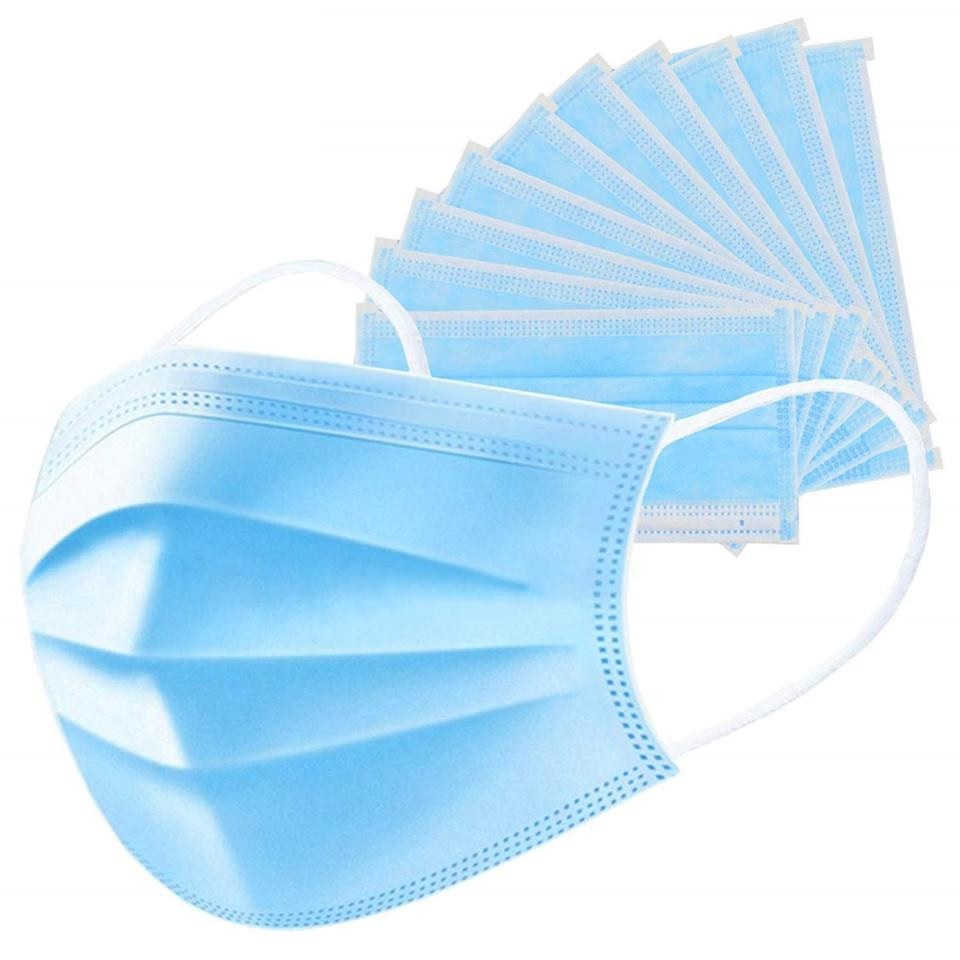 3-Ply Disposable Face Mask Pack of 50