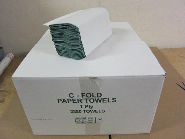 ANT CFOLD GREEN 1 PLY HAND TOWELS PK2800