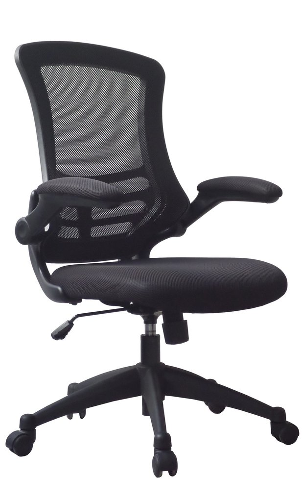 LUNA MESH BACK CHAIR BLACK