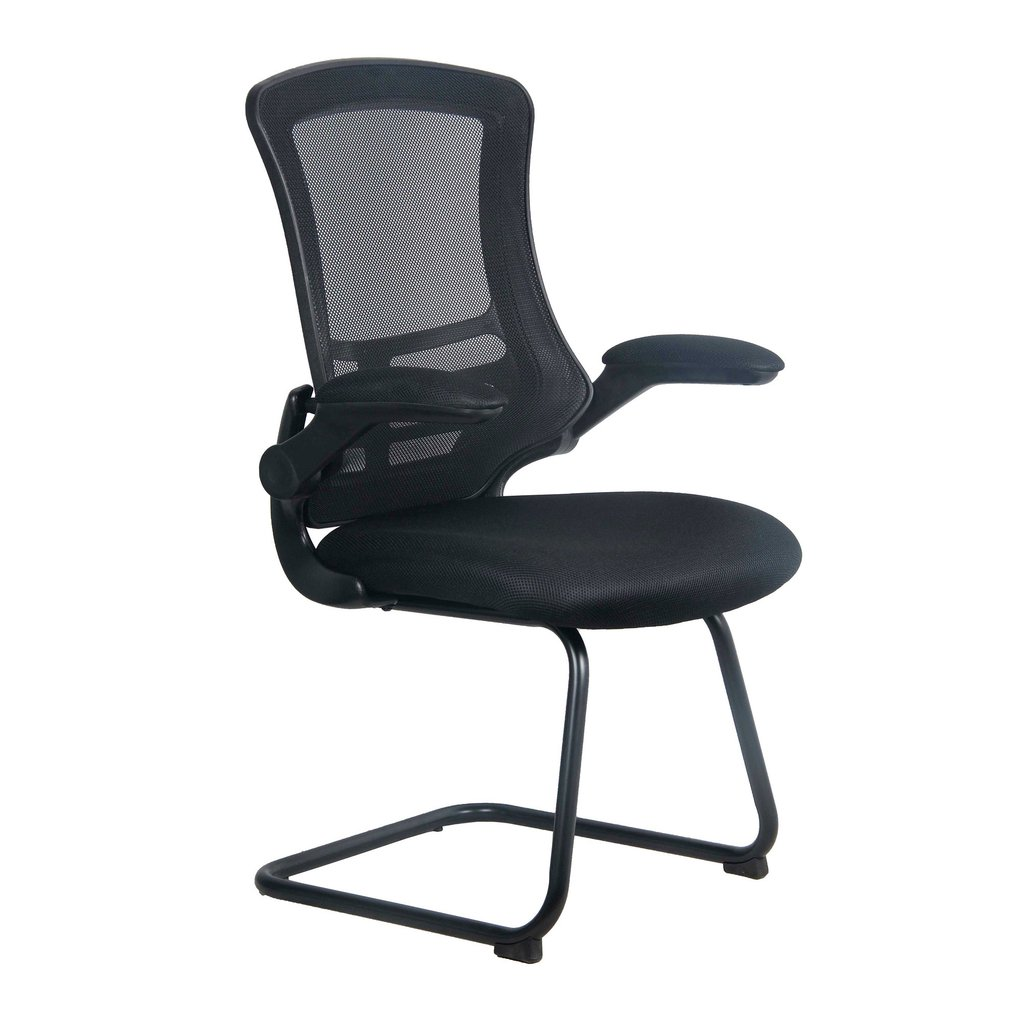 LUNA CANTILEVER CHAIR BLK FRAME BLACK