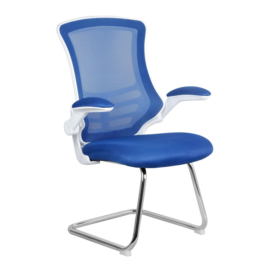 LUNA CANTILEVER CHAIR WHITE FR BLUE