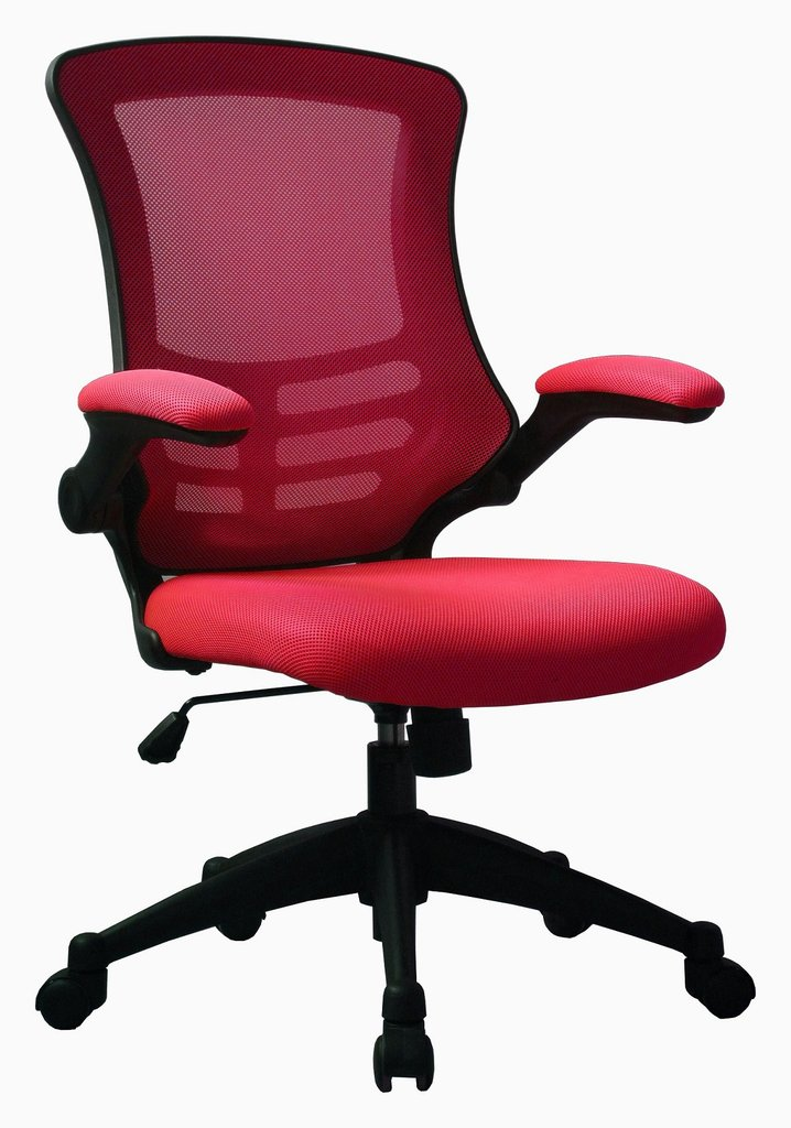 LUNA MESH BACK CHAIR RED