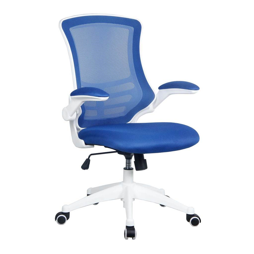 LUNA MESH BACK CHAIR WHITE FRAMEBLUE