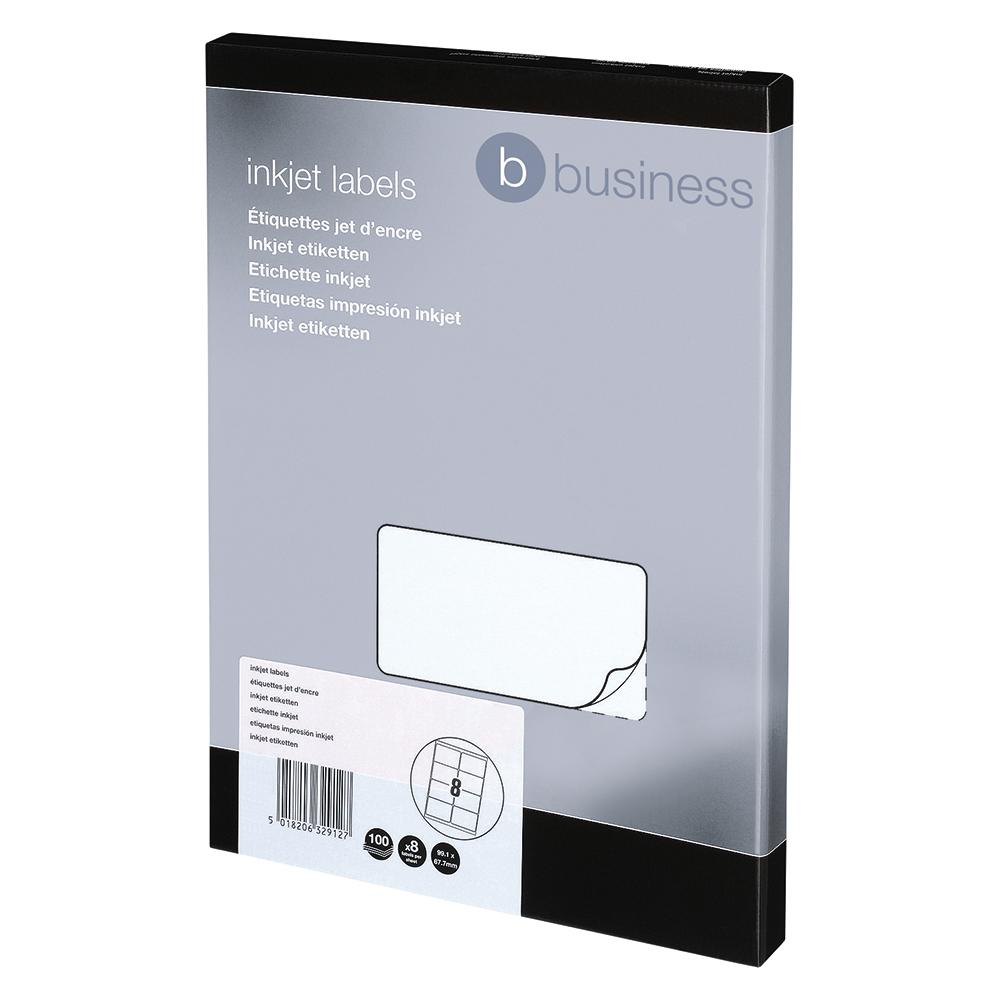 5 Star Addressing Labels Inkjet 8 per Sheet 99.1x67.7mm White 800 Labels