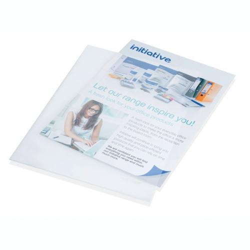 Initiative Clear Plastic Folders A4 P100
