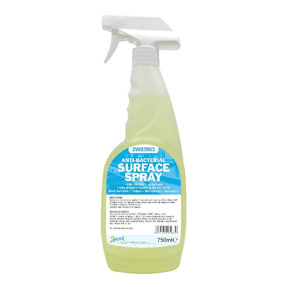 2WORK ANTI-BACTERIAL SURFACE SPRAY 750ml