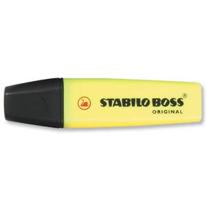 STABILO BOSS HIGHLIGHTER YELLOW - ORDER 10 OR MORE FOR BULK DISCOUNT!!