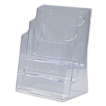 DEFLECTO LITERATURE HOLDER A4 3 TIER