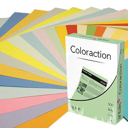 COLORACTION PAPER A4 80gsm PALE PINK - MULTI BUY DISCOUNT AVAILABLE!!