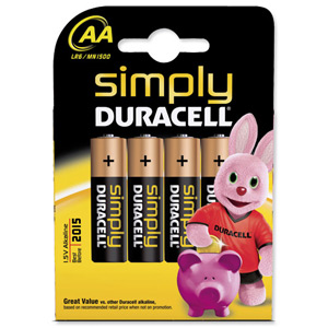 DURACELL BATTERIES - AA (pk 4)