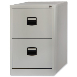 SILVERLINE FILING CABINET 2drawer GREY