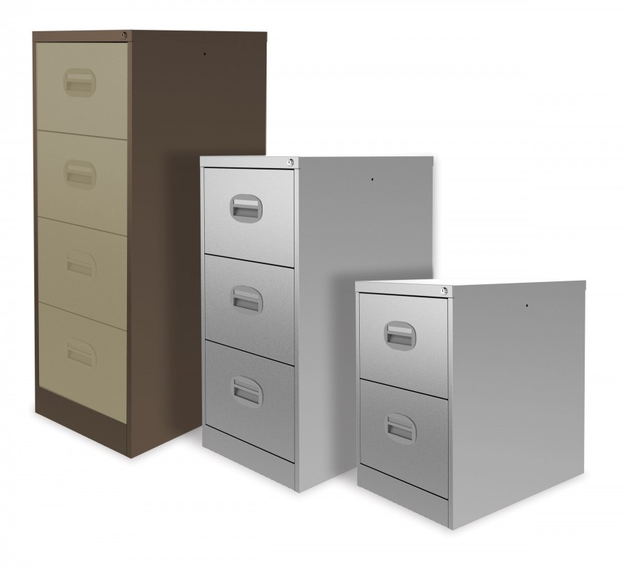 GREY FILING CABINET 2drawer + FREE FILES