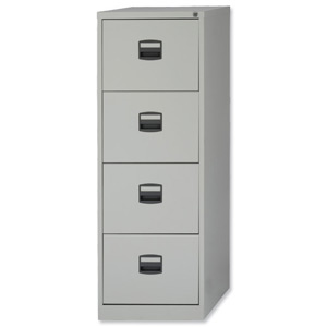 SILVERLINE FILING CABINET 4drawer GREY