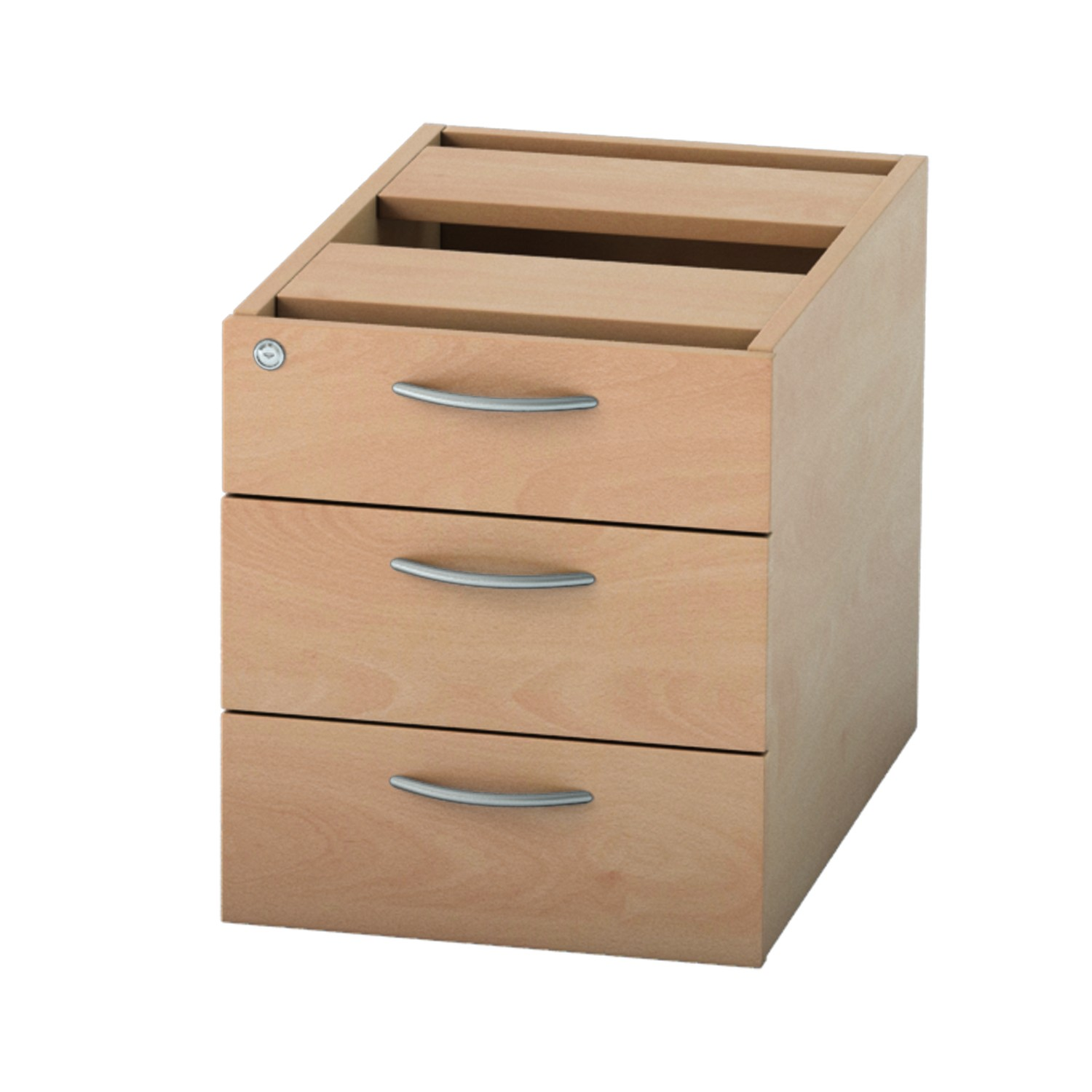 585mm 3 DRAWER FIXED PEDESTAL