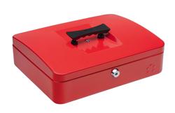 5 Star Cash Box 12 Inch W300xD240xH90mm Red