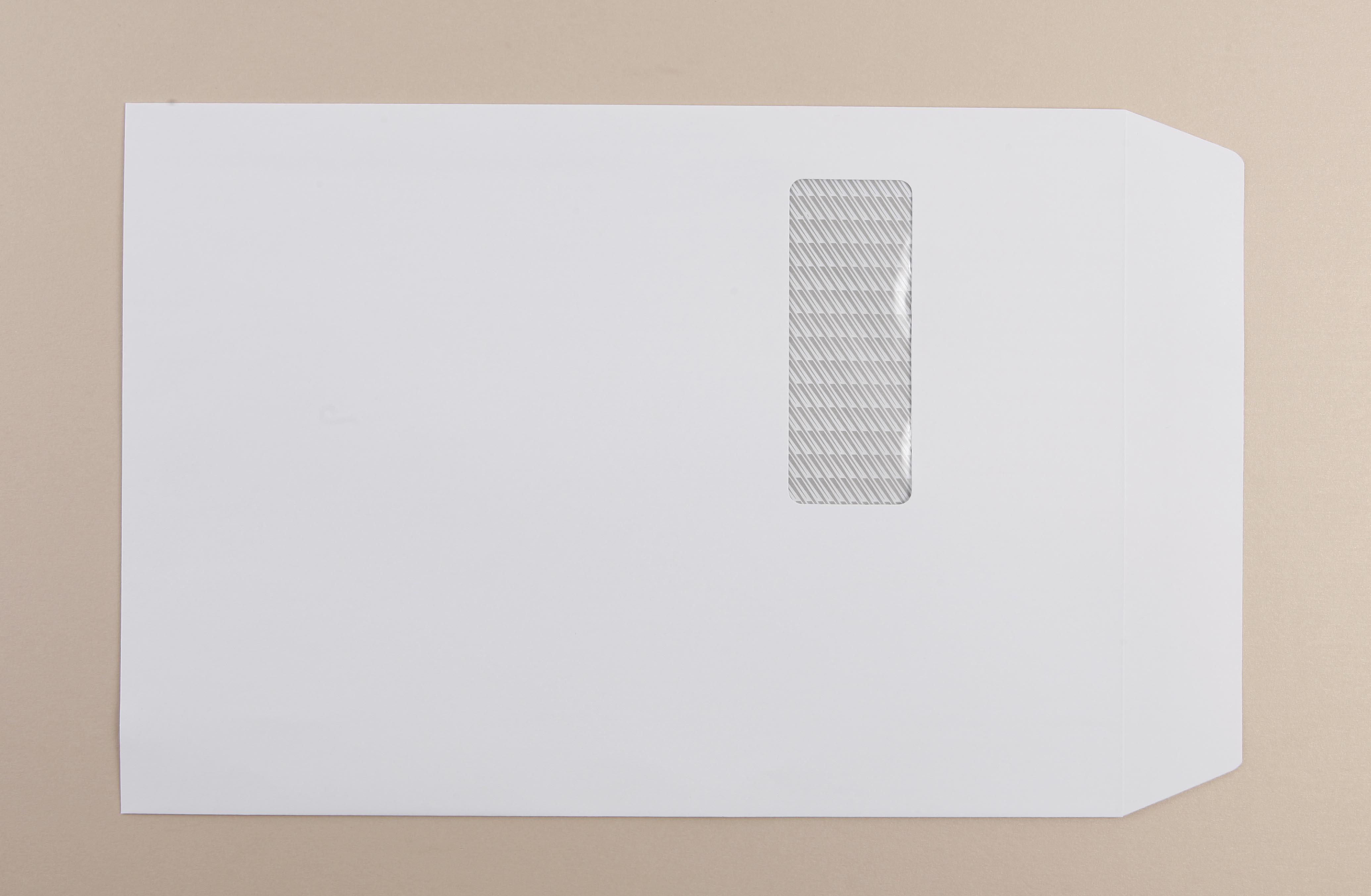 Office Env C4 90g White Window P/S Pk250