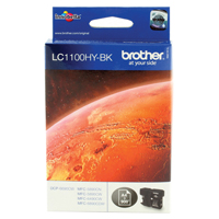 Brother LC1100 Black High Yield Inkjet Cartridge LC-1100HYBK