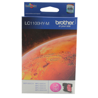 Brother LC-1100 Magenta High Yield Inkjet Cartridge LC1100HYM