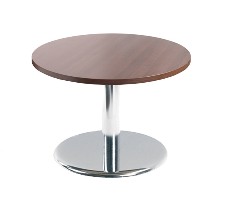 Coffee table chrome trumpt base 600 D to
