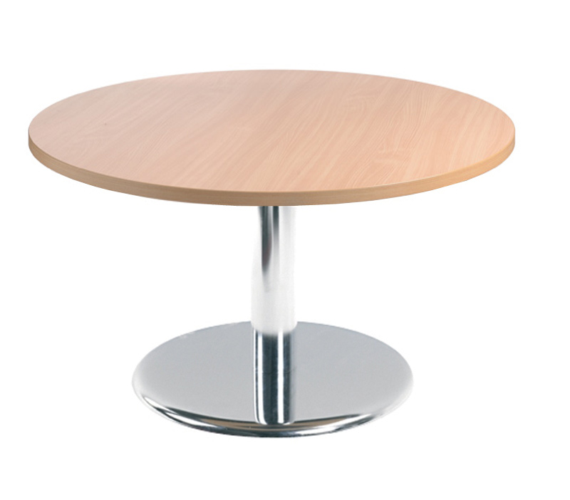 Coffee table chrome trumpt base 800 D to