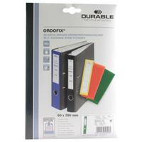 Durable Ordofix Spine Label Green Pk 10 8090/05